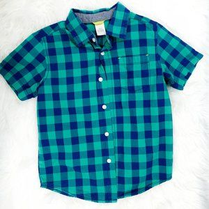 🛍Gymboree. Boys shortsleeve button up top. small